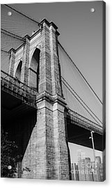 Brooklyn Bridge Black And White I Acrylic Print by Sonja Quintero