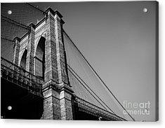 Brooklyn Bridge Black And White II Acrylic Print by Sonja Quintero
