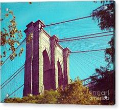 Brooklyn In Trees Acrylic Print by Sonja Quintero