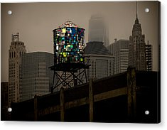 Brooklyn Water Tower Acrylic Print by Chris Lord
