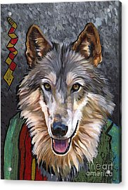 Brother Wolf Acrylic Print by J W Baker