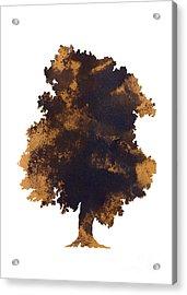 Brown Oak Minimalist Painting Acrylic Print by Joanna Szmerdt