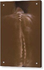 Brown Series IIi Acrylic Print by John Clum