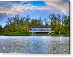 Brownsville Covered Bridge Acrylic Print by Jack R Perry