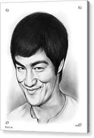 Bruce Lee Acrylic Print by Greg Joens