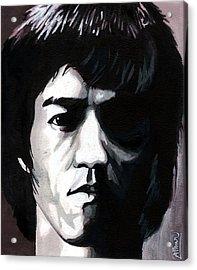 Bruce Lee Portrait Acrylic Print by Alban Dizdari