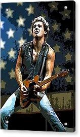 Bruce Springsteen Born To Run Acrylic Print by Lulu Escudero