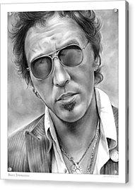 Bruce Springsteen Acrylic Print by Greg Joens
