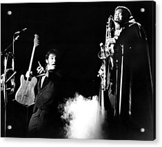 Bruce Springsteen - Halloween On E Street 1980 Acrylic Print by Chris Walter