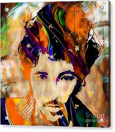 Bruce Springsteen Painting Acrylic Print by Marvin Blaine