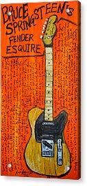 Bruce Springsteen's Fender Esquire Acrylic Print by Karl Haglund
