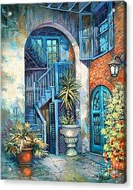 Brulatour Courtyard Acrylic Print by Dianne Parks