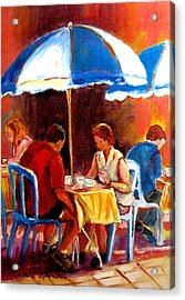 Brunch At The Ritz Acrylic Print by Carole Spandau