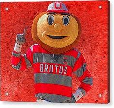 Brutus The Buckeye Acrylic Print by Dan Sproul