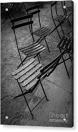 Bryant Park Chairs Nyc Acrylic Print by Edward Fielding