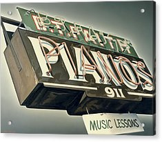 B.t.faith Pianos Acrylic Print by Van Cordle