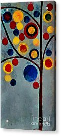 Bubble Tree - Dps02c02f - Left Acrylic Print by Variance Collections