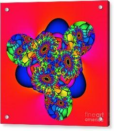 Bubbles 02a Acrylic Print by Rolf Bertram