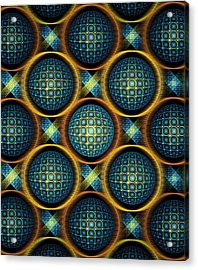 Bubbles - Pattern - Fractal Acrylic Print by Anastasiya Malakhova