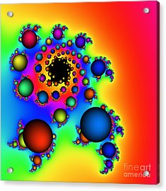 Bubbles Three Acrylic Print by Rolf Bertram