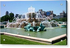 Buckingham Fountain Acrylic Print by Anita Burgermeister