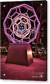 bucky ball Madison square park Acrylic Print by John Farnan