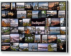 Budapest In October Acrylic Print by Janos Kovac