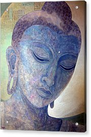 Buddha Alive In Stone Acrylic Print by Jennifer Baird