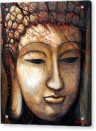 Buddha Acrylic Print by Angel Ortiz