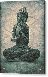 Buddha Contemplate Acrylic Print by Madeleine Forsberg