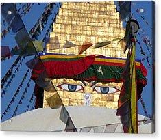 Buddha's  Eyes Acrylic Print by Dagmar Ceki