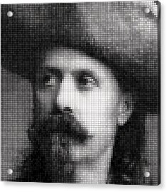 Buffalo Bill Cody Mosaic Acrylic Print by Daniel Hagerman