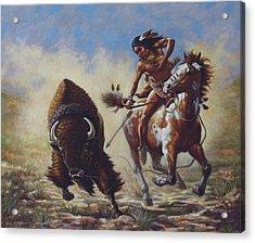 Buffalo Hunter Acrylic Print by Harvie Brown