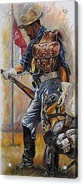 Buffalo Soldier Outfitted Acrylic Print by Harvie Brown