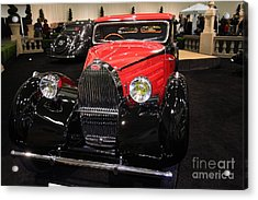 Bugatti Red . Front Angle Acrylic Print by Wingsdomain Art and Photography