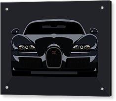 Bugatti Veyron Dark Acrylic Print by Michael Tompsett