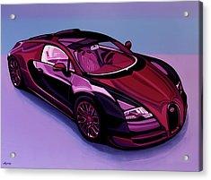Bugatti Veyron 2005 Painting Acrylic Print by Paul Meijering