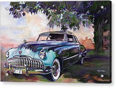 Buick Roadmaster Dynaflow 1949 Acrylic Print by Mike Hill
