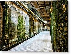 Building 64 Interior Hallway - Alcatraz Island Acrylic Print by Jennifer Rondinelli Reilly