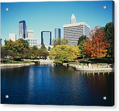 Buildings In A City, Charlotte, North Acrylic Print by Panoramic Images