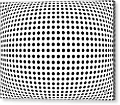 Bulge Dots Acrylic Print by Michael Tompsett