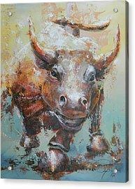 Bull Market Y Portrait Acrylic Print by John Henne