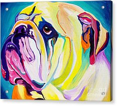 Bulldog - Bully Acrylic Print by Alicia VanNoy Call