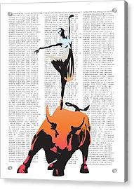 Bullerina Acrylic Print by Sassan Filsoof
