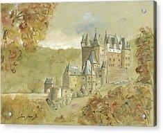 Burg Eltz Castle Acrylic Print by Juan Bosco