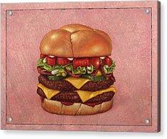 Burger Acrylic Print by James W Johnson