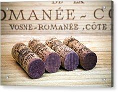 Burgundy Wine Corks Acrylic Print by Frank Tschakert