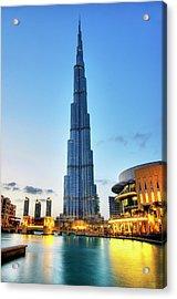 Burj Khalifa Sunset Acrylic Print by Shawn Everhart