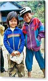 Burmese Brother & Sister Acrylic Print by Inga Spence