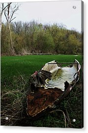 Burnt Out Boat Acrylic Print by Anna Villarreal Garbis